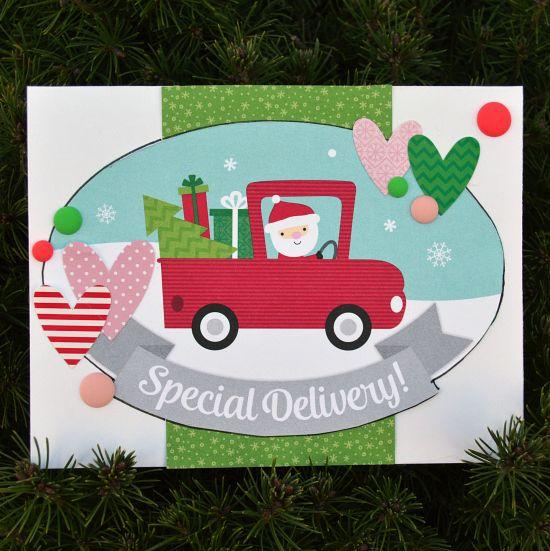 Here Comes Santa Claus - Doodlebug Christmas Cards - Video Tutorial