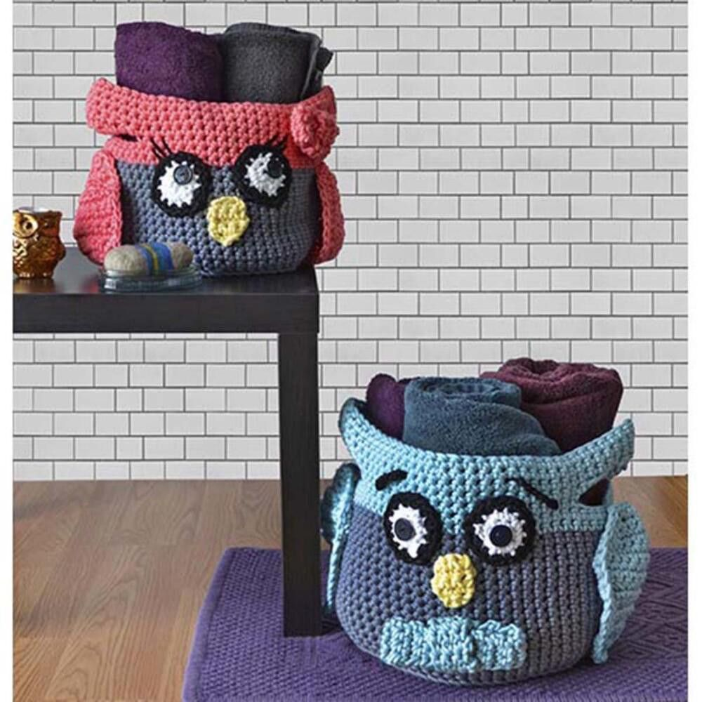 Crochet hoot owl container patterns more crochet owl basket owl crochet hoot owl container patterns bankloansurffo Images