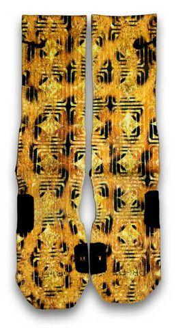 leopard nike elite socks