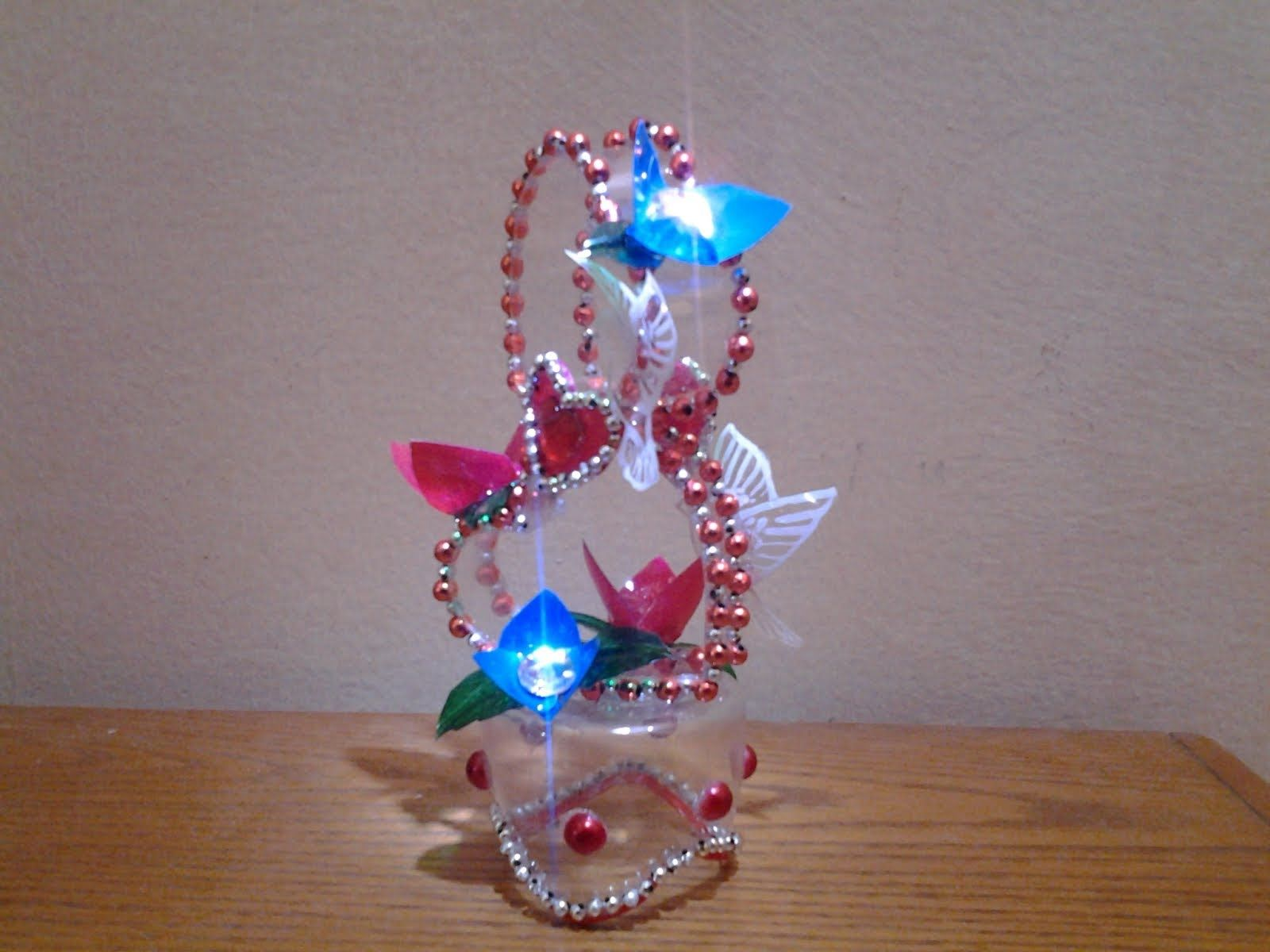 Best out of waste plastic bottle transformed to lovely for Craft model with waste material