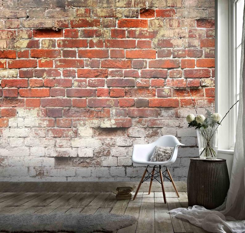 3d Old Red Brick Wallpaper Removable Self Adhesive Wallpaper Wall Mural Vintage Art Peel And Stick Brick Wallpaper Red Brick Wallpaper Removable Brick Wallpaper