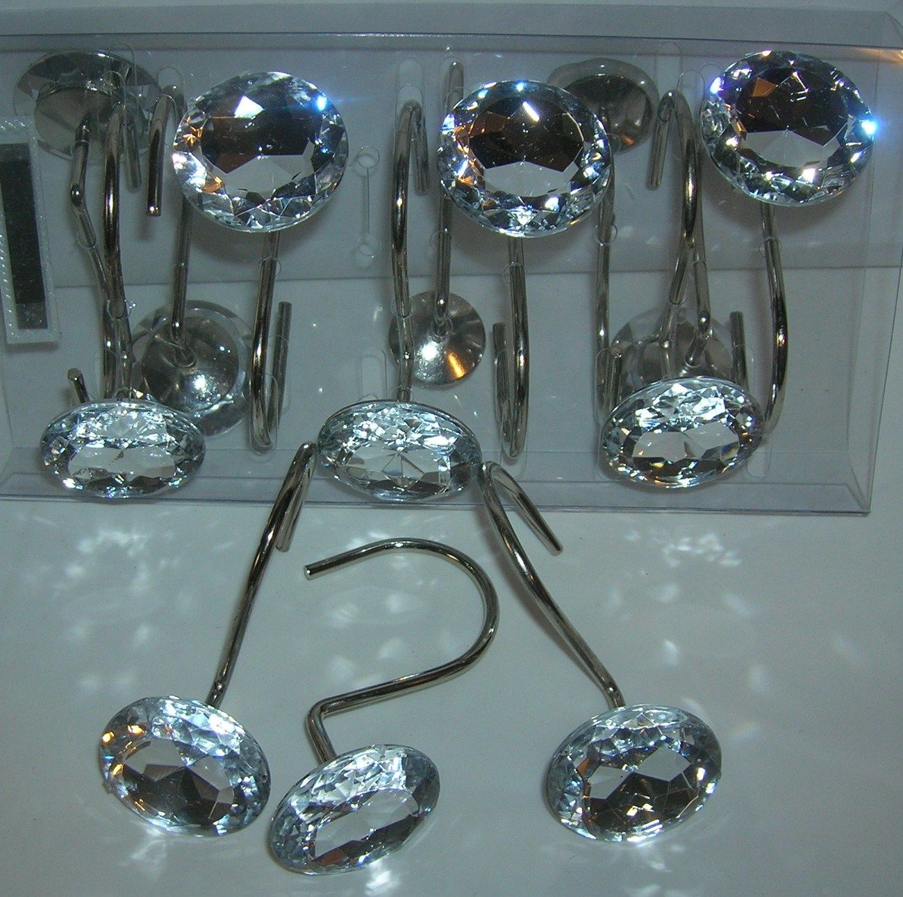 Shower Curtain Hooks That Sparkle