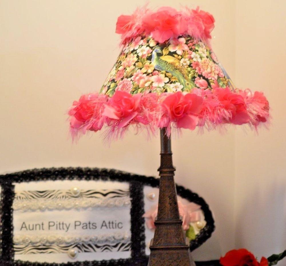 Shady lady eiffel tower table lamp shabby chic pink peacock fabric shady lady eiffel tower table lamp shabby chic pink peacock fabric free ship aloadofball Gallery