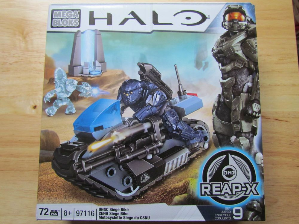 Mega Blocks Halo Unsc Siege Bike 72pcs Set 9 Xbox Microsoft Oni