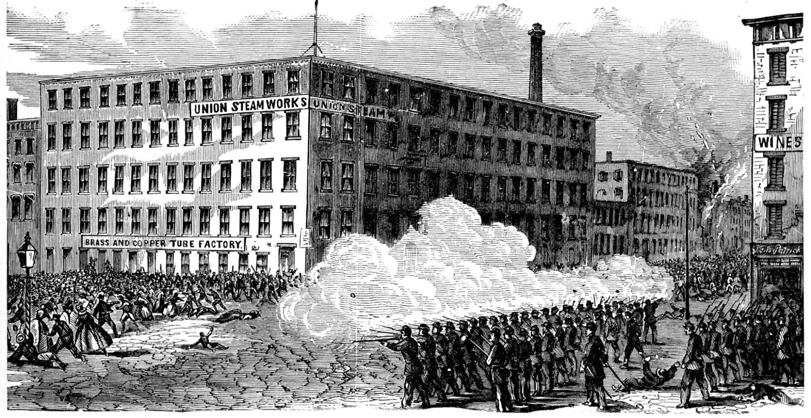 The New York City Draft Riots Depicted In The Climax Of Gangs Of