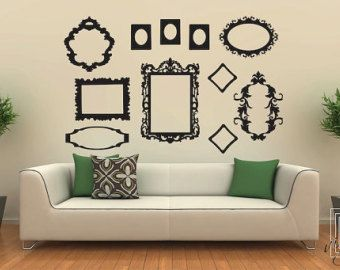 Wall Decal Frames Large Collection Wall Vinyl Wall Stickers - Wall decals picture frames