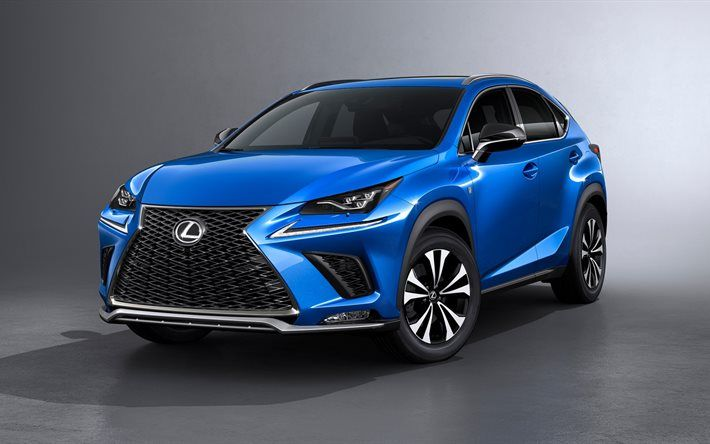 Download Wallpapers Lexus Nx 2017 Blue Nx New Cars Japanese Cars