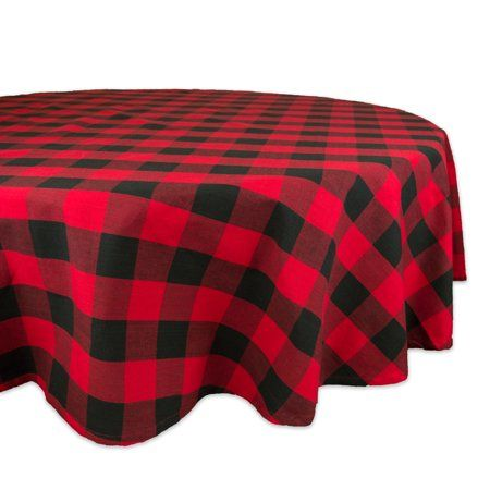 Dii Red Buffalo Check Tablecloth 70 Round 100 Cotton Walmart Com Buffalo Check Tablecloth Table Cloth Design Imports