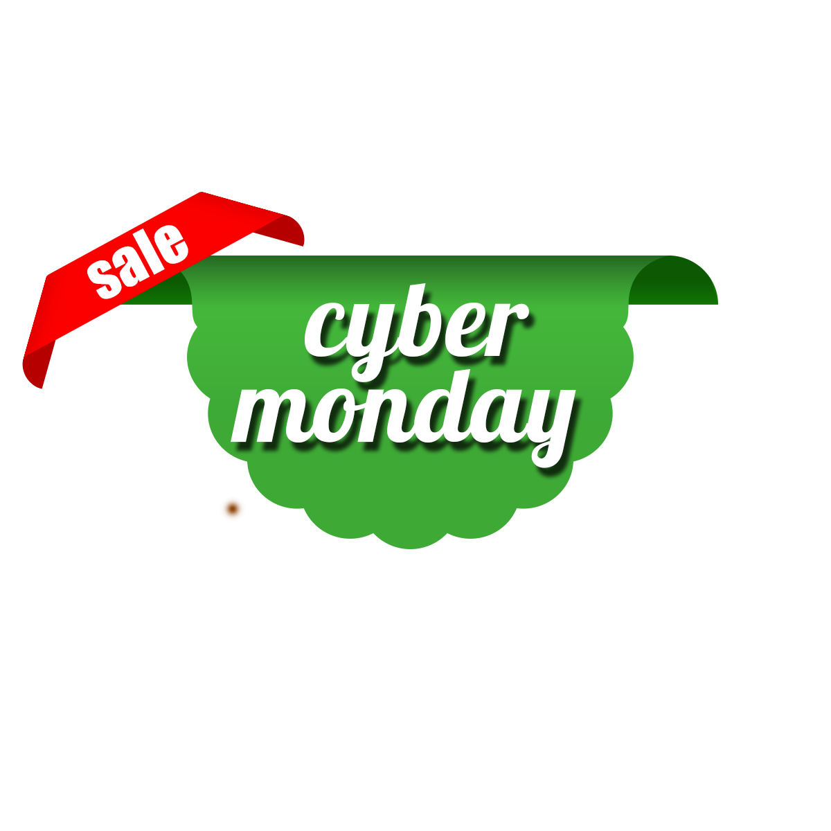 Free download high quality cyber monday png ribbon