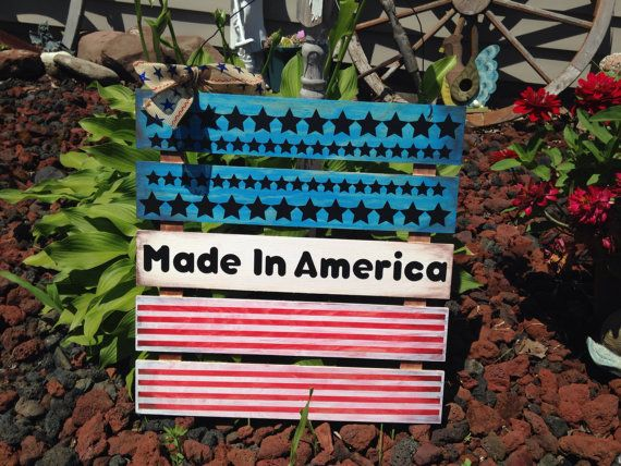 Made in america flag sign by NeonHorseDesign on Etsy