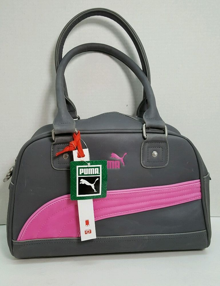 Puma Foundation gray pink vegan satchel bowling bag handbag purse NWT  Puma   Satchel c3b7a37328236