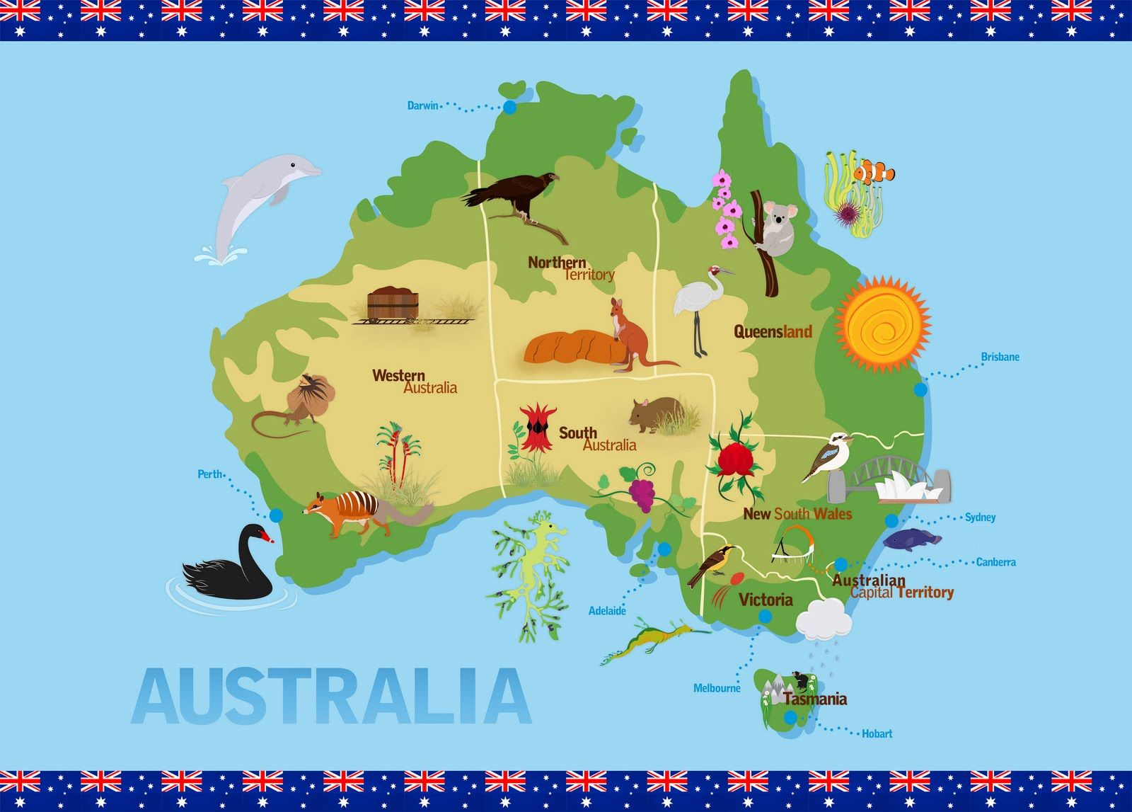 For The Children S Map Of Australia I Thought About What