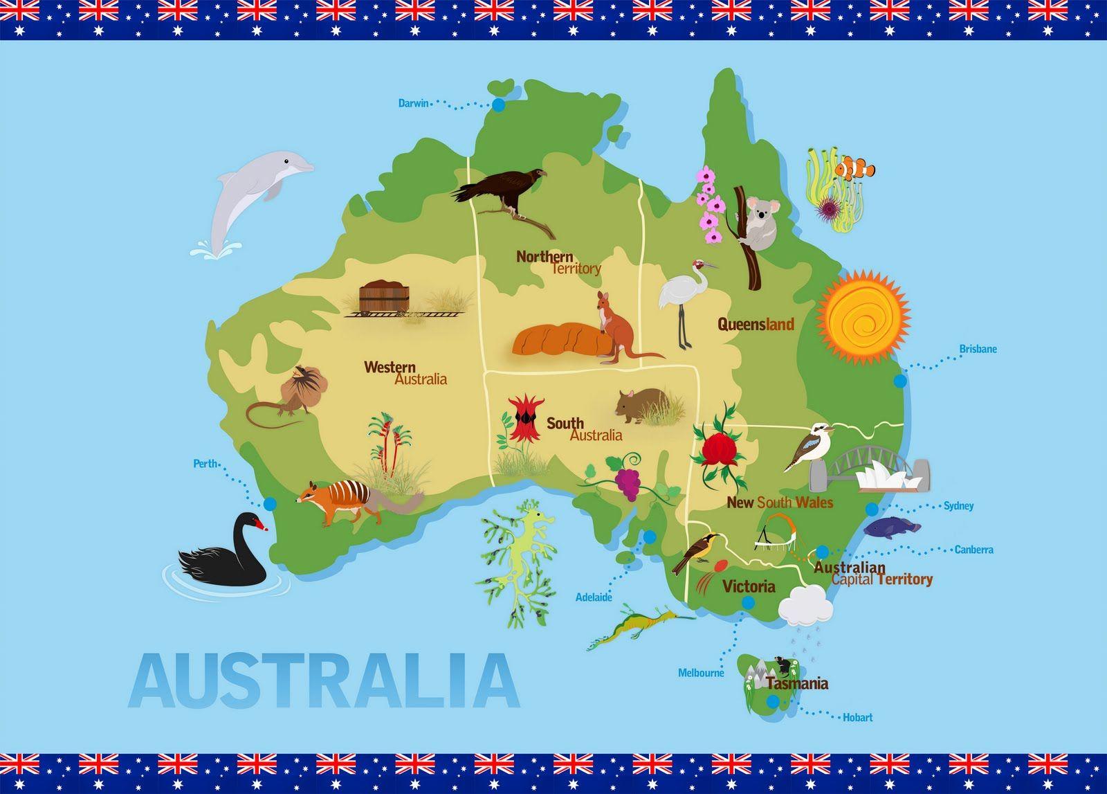 Ani's Design Blog Children's Map of Australia Australia