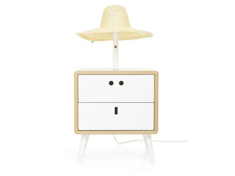Comodino con lampada integrata MARIA by DAM design DAM