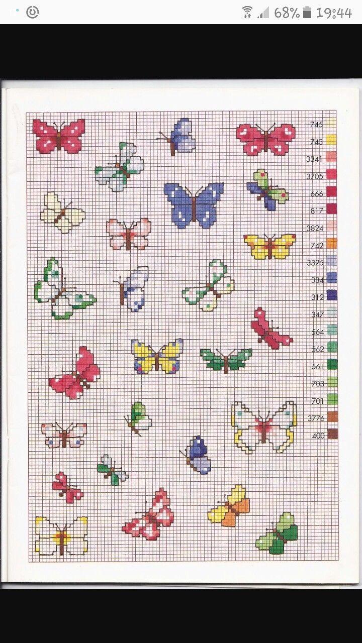 Punto croce farfalle farfalline a punto croce for Farfalle a punto croce