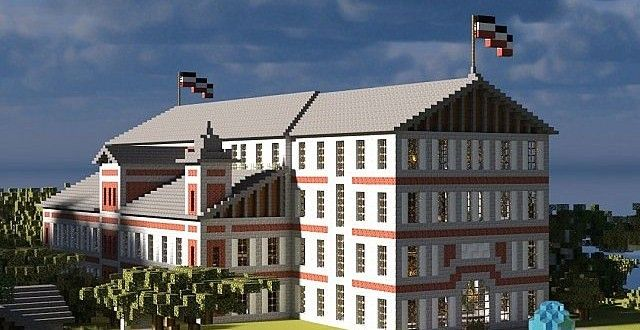 Large Town Hall In Minecraft By Ostpreusse