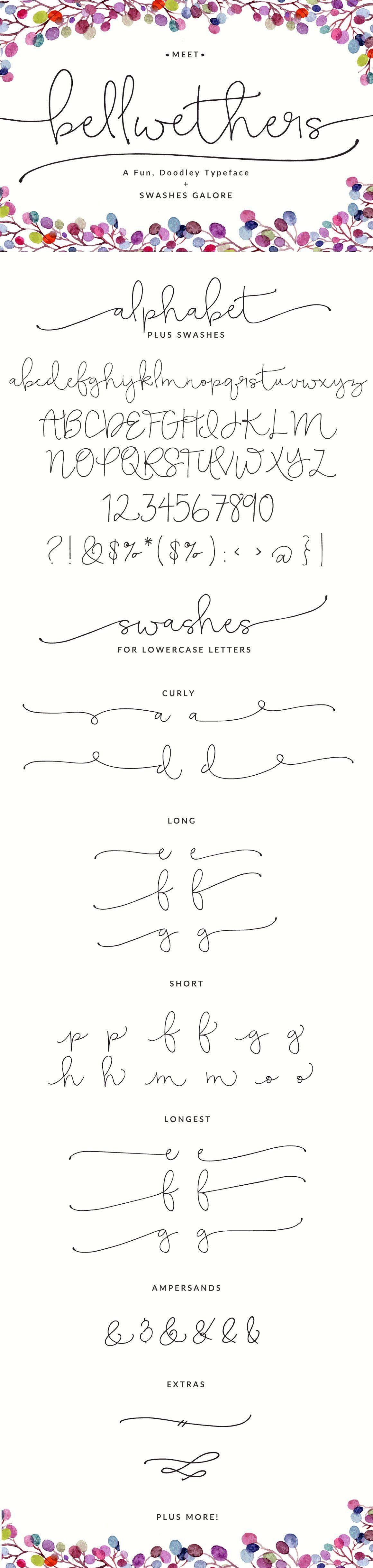 Bellwethers Script Font Hand Lettering Handwritten Typography Fonts Cursive