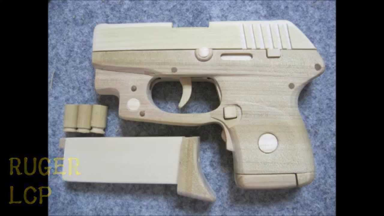 pinrae industries on ruger lcp | rubber band gun, guns