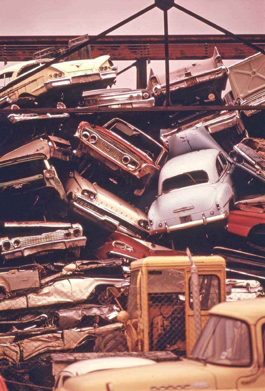 Junkyard in Oregon Early-1970s | automobiles | Pinterest | Abandoned ...