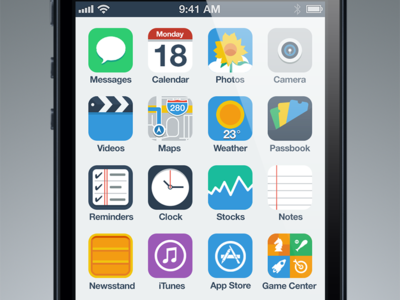 iPhone Flat UI Concept