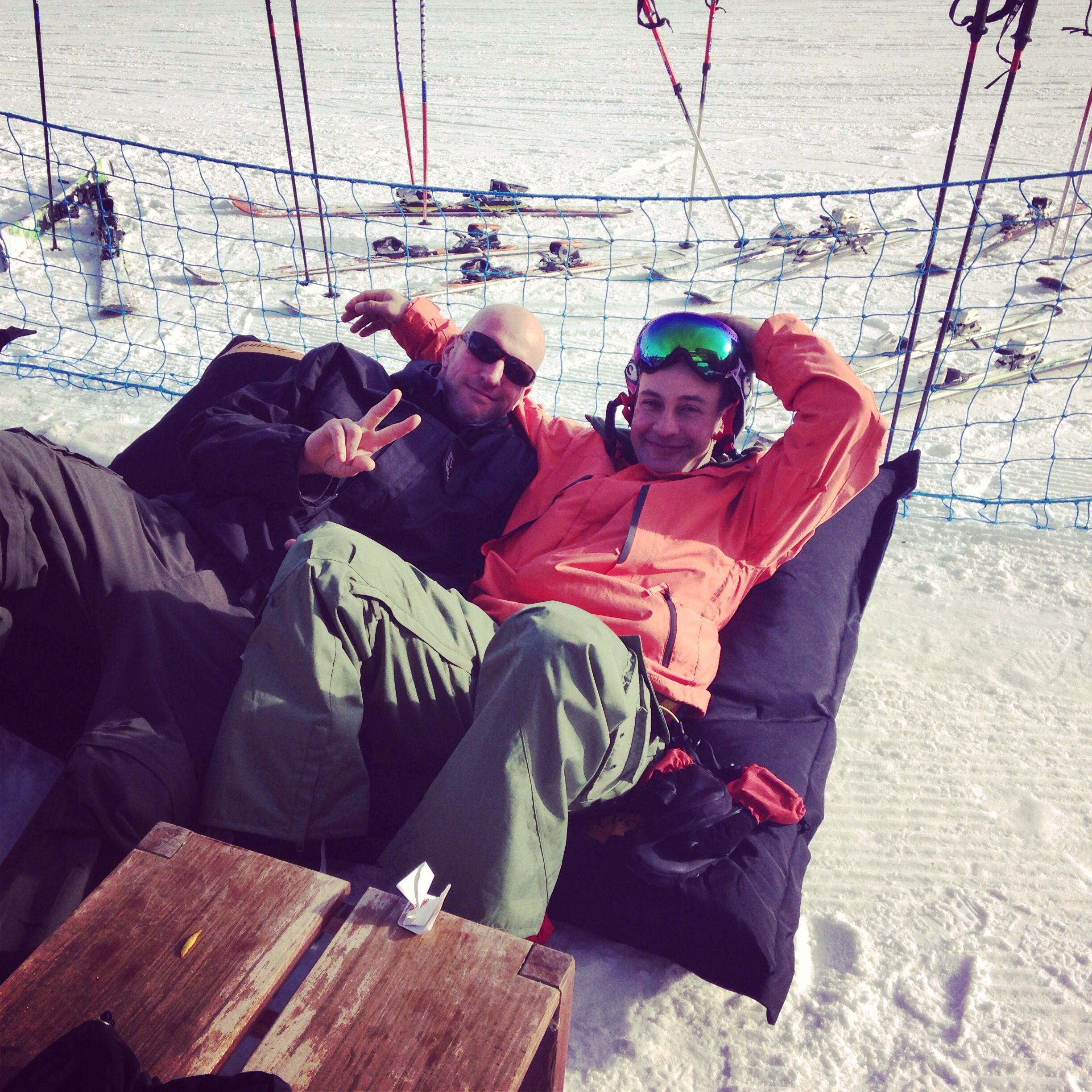 Chilling on the slopes