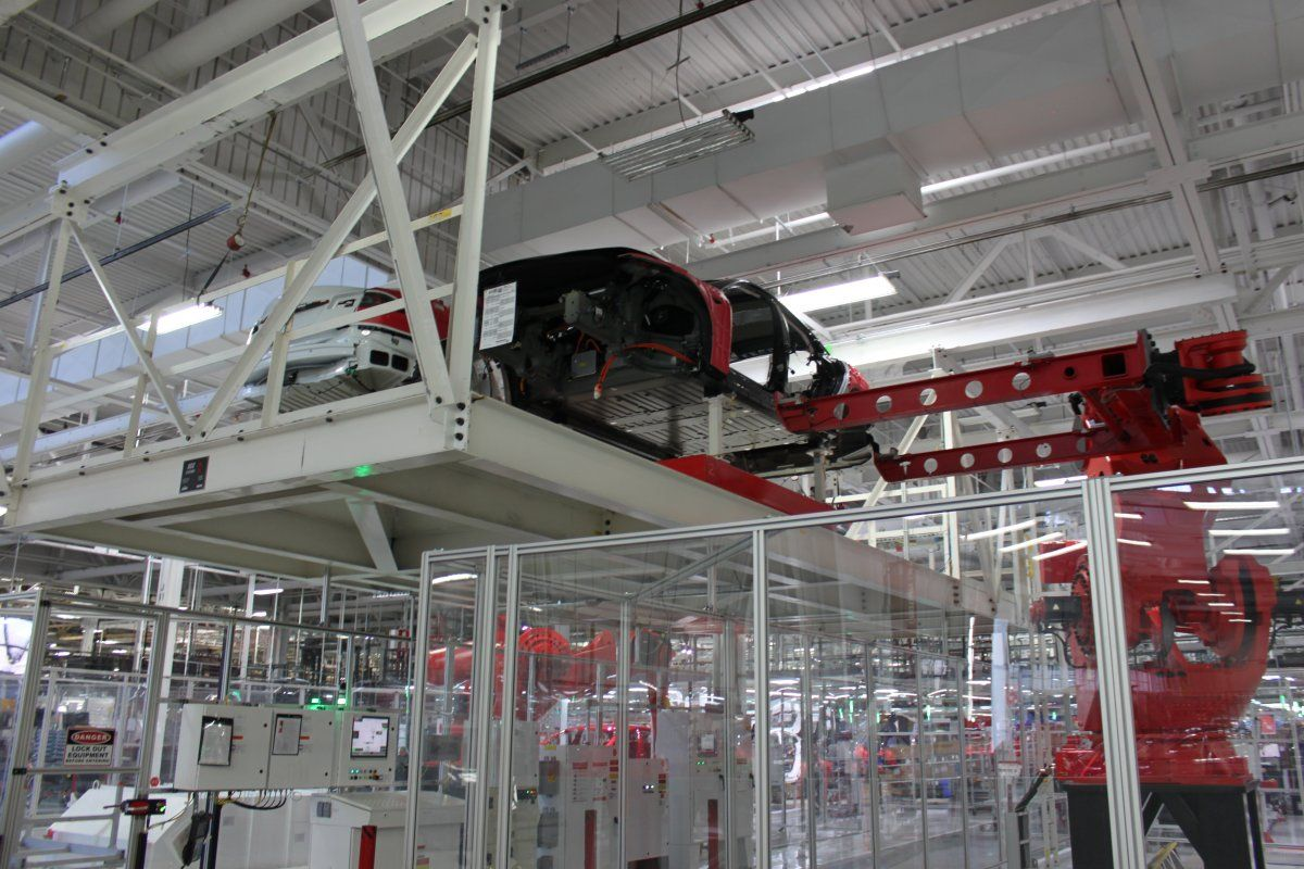 We took a tour of the factory where Tesla is building its new