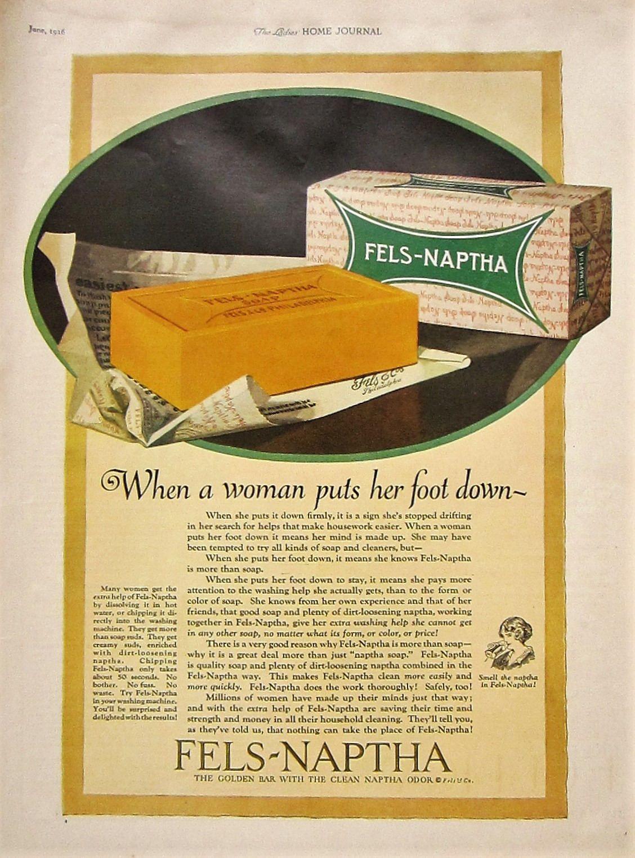 1926 Fels Naptha Soap Vintage Advertisement Bathroom Wall Art Powder ...