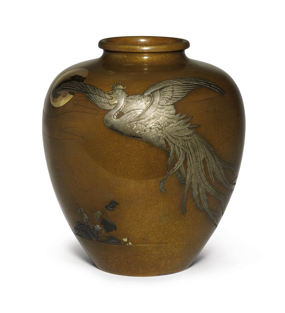 A soft metal decorated bronze vase meiji period late 19th a soft metal decorated bronze vase meiji period late 19th century reviewsmspy