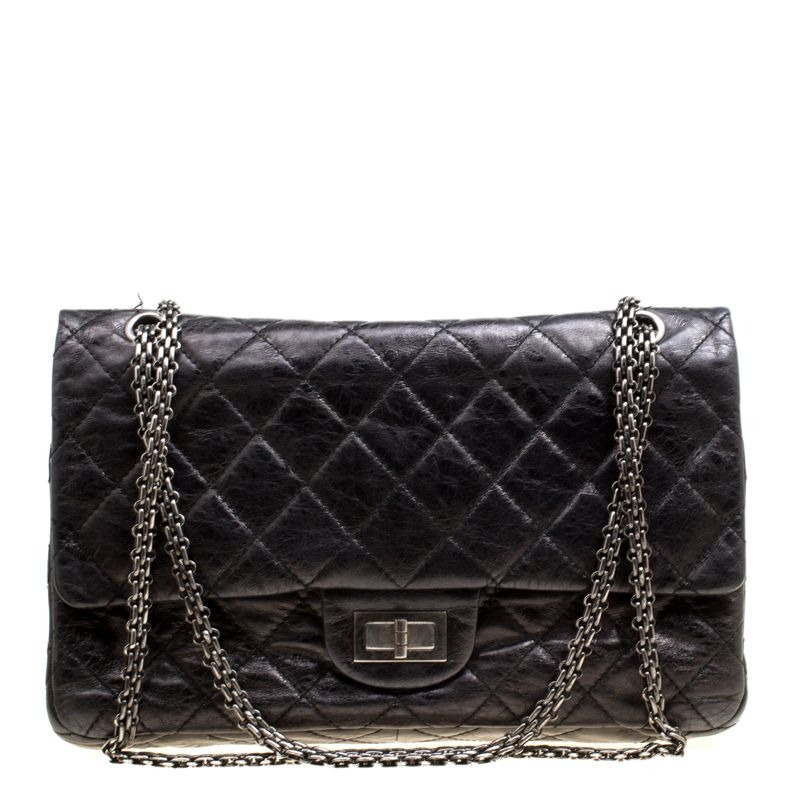 Chanel Black Quilted Leather Reissue 2