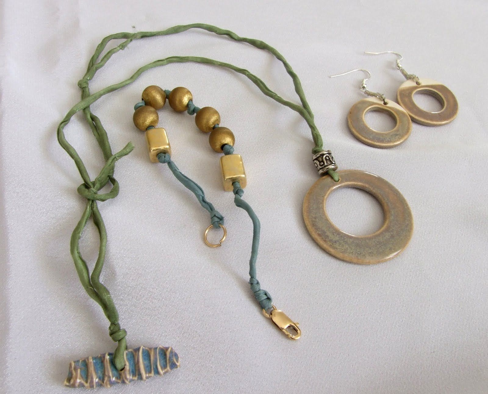These are some of the jewelry I made in bead soup party My friend