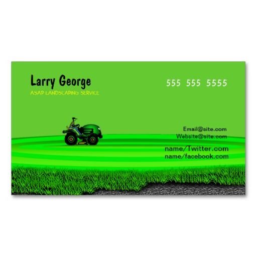 Lawn care Service Business Card Lawn Care Business Cards - lawn care specialist sample resume