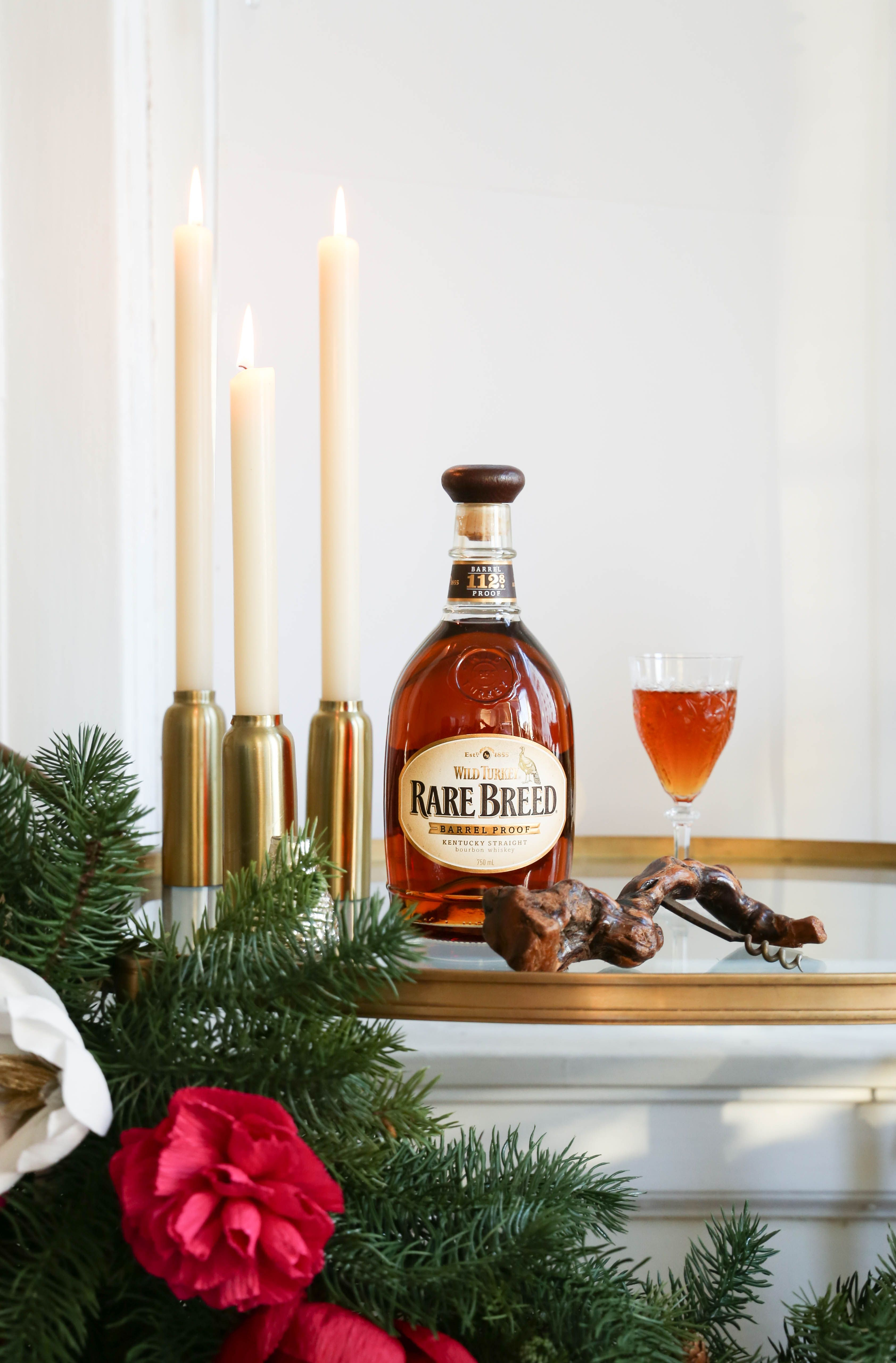 extra special whiskey for that extra special someone // Holiday Bar Cart