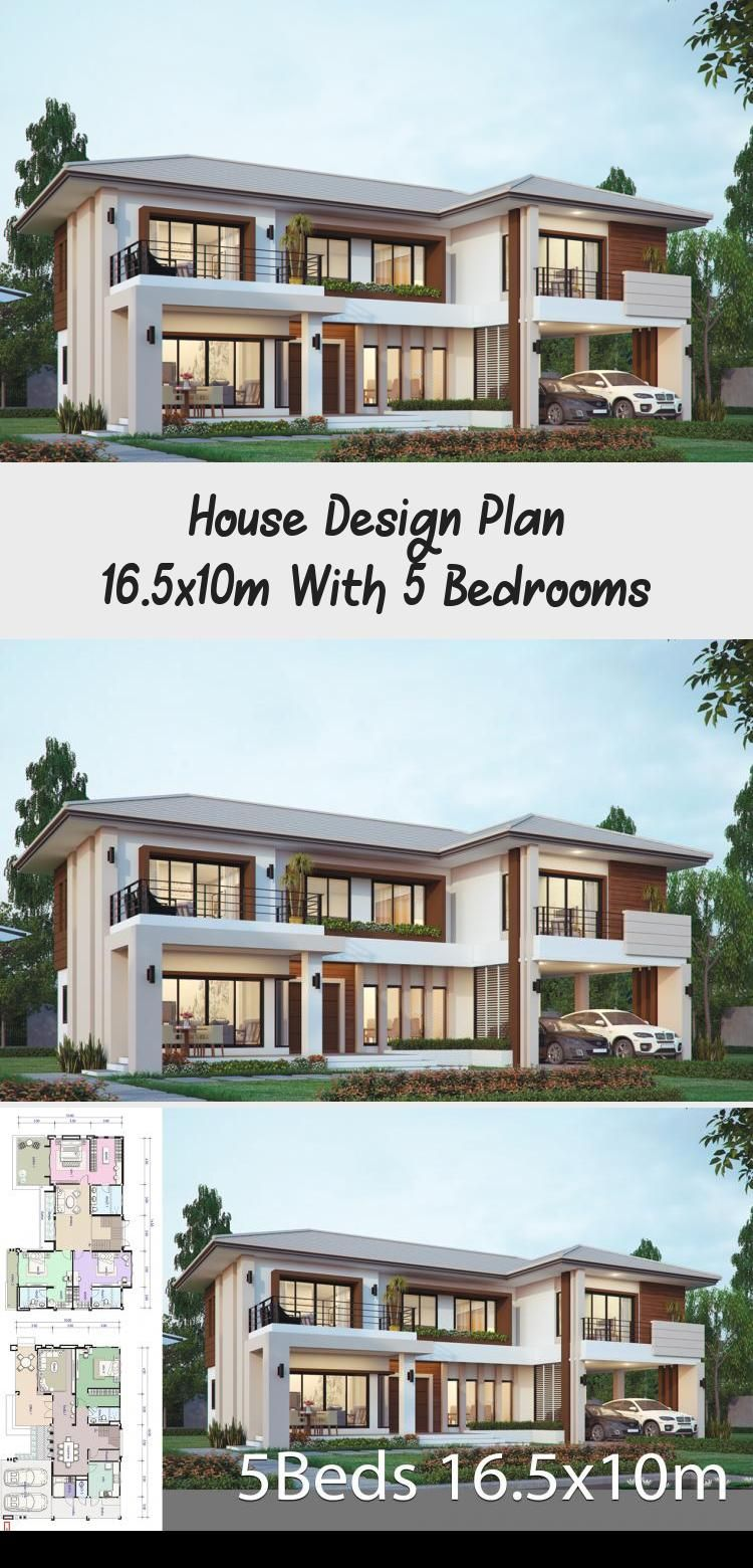House Design Plan 16 5x10m With 5 Bedrooms Home Design With Plansearch Traditionalhouseplans In 2020 Courtyard House Plans Victorian House Plans Home Design Plans