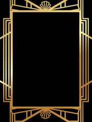 Art Deco Border Photos Royalty Free Images Graphics Vectors Videos Adobe Stock Art Deco Borders Art Deco Frame Template