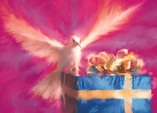 Receiving the gifts of the Holy Spirit; May joy be in you. Acts 10:25-26, 34-35, 44-48; Psalm 98:1-4; 1 John 4:7-10;  John 15:9… | Holy spirit, Spiritual gifts, Holi