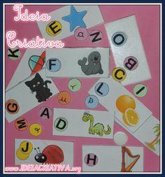 Ideia Criativa - Gi Barbosa Educação Infantil: Atividade Letras do Alfabeto Material Concreto
