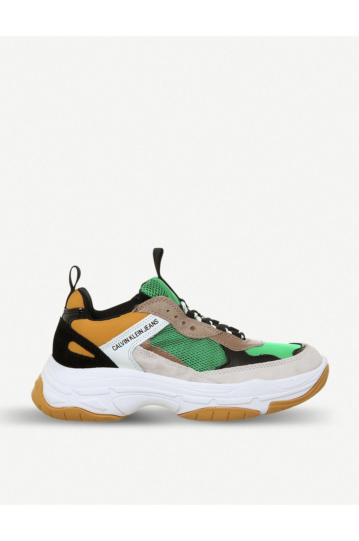 42e42420a61 CALVIN KLEIN - Maya suede and mesh sneakers | Selfridges.com | Shoes ...