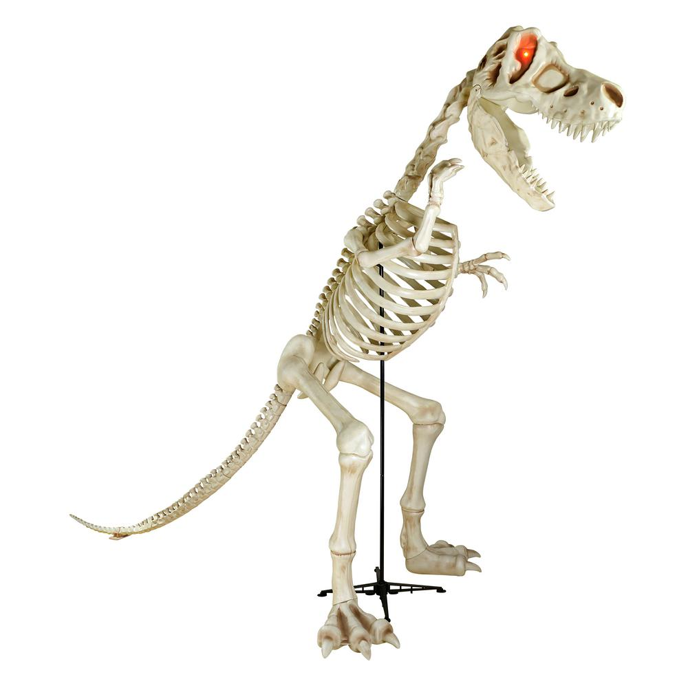 Home Accents Holiday 9 Ft Standing Skeleton T Rex Dinosaur With Led Illuminated Eyes Fun Halloween Decor Halloween Outdoor Decorations Dinosaur Halloween