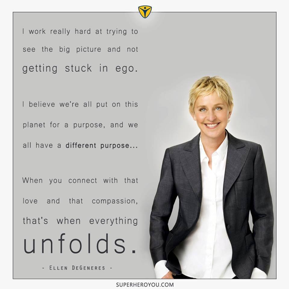 ellen degeneres. | Ellen degeneres, Ellen quotes, Fathers ...