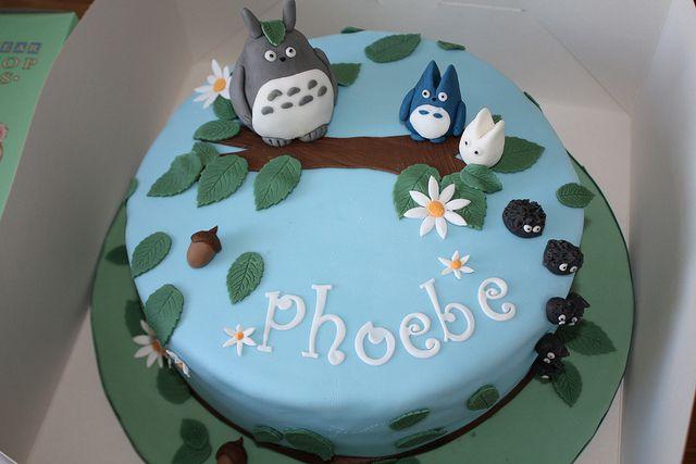 Sensational Totoro Birthday Cake Anime Cake Rich Chocolate Cake Cake Funny Birthday Cards Online Aeocydamsfinfo