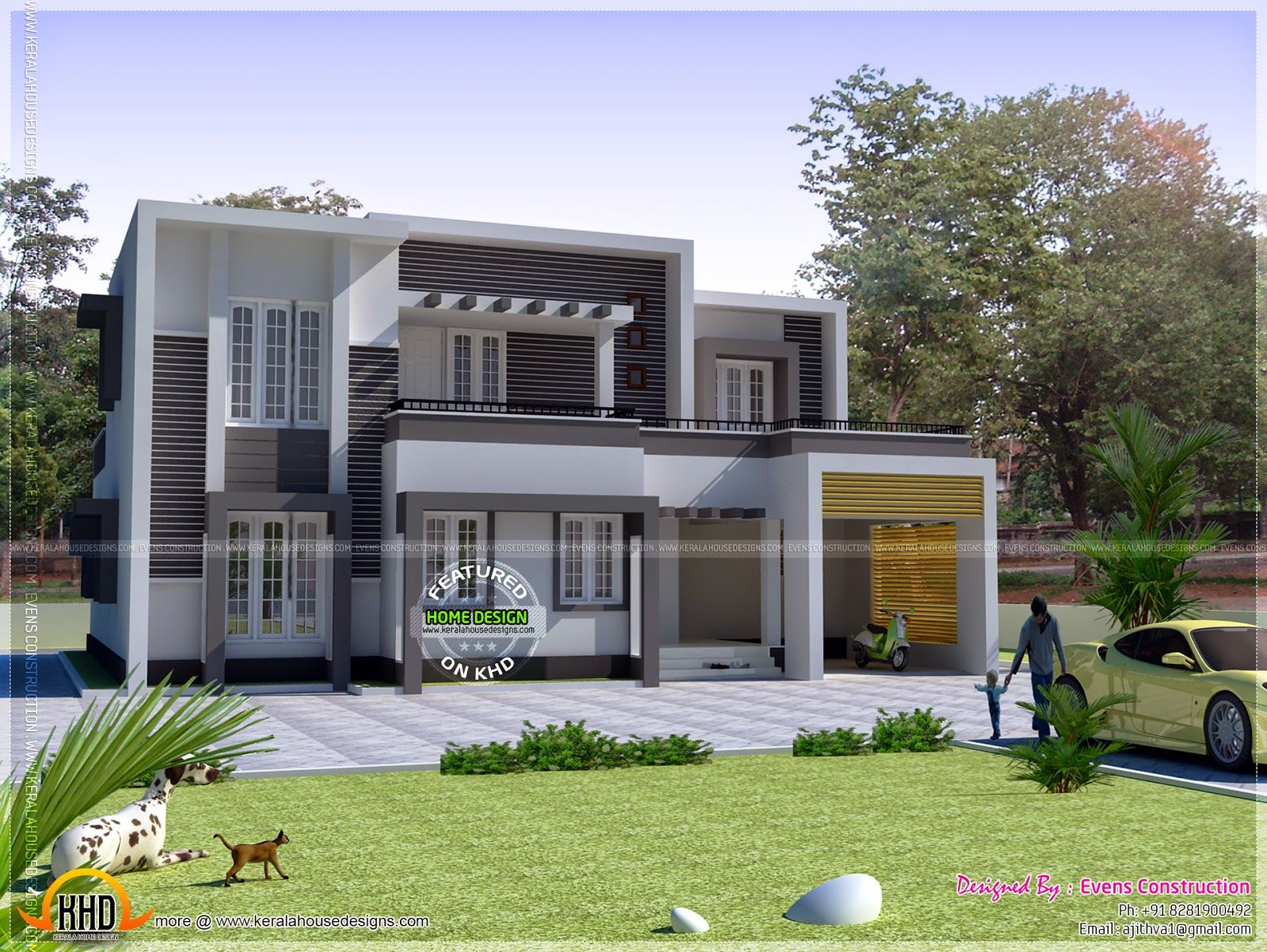 Second Story Addition Flat Roof Google Search Kerala House Design Simple House Design Simple House