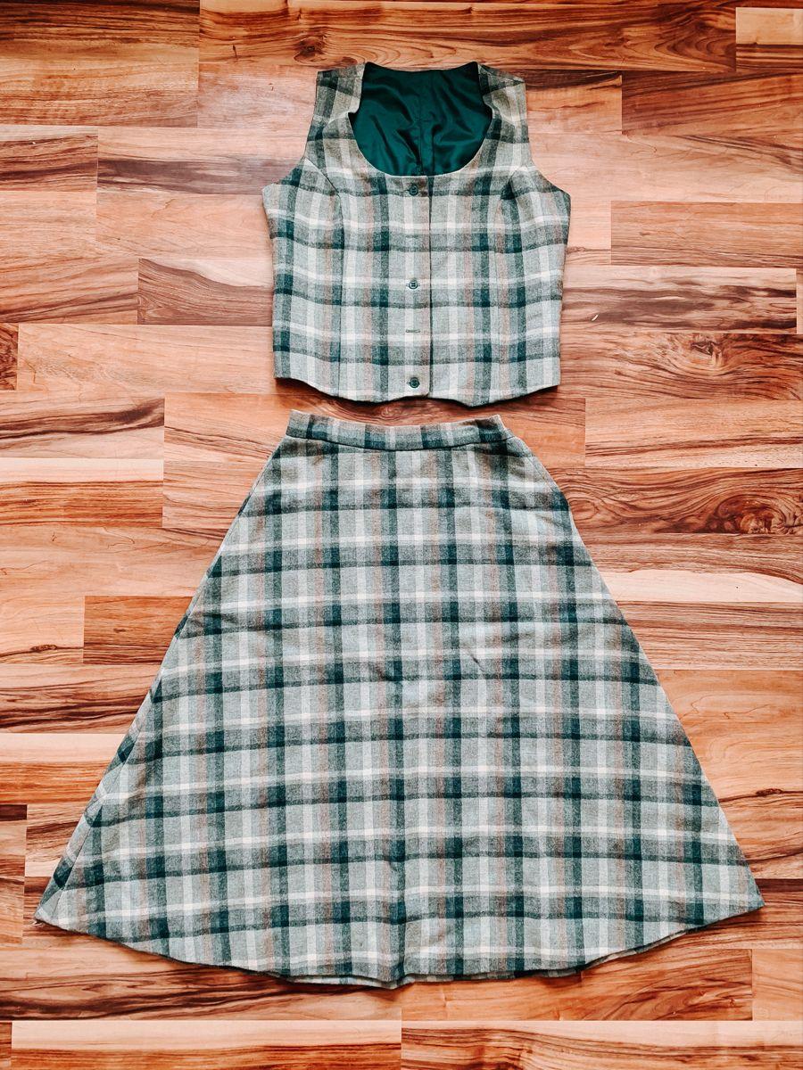 Vintage 1960 S Green Plaid Dress Set In 2021 Green Plaid Dress Set Dress Plaid Dress [ 1200 x 900 Pixel ]