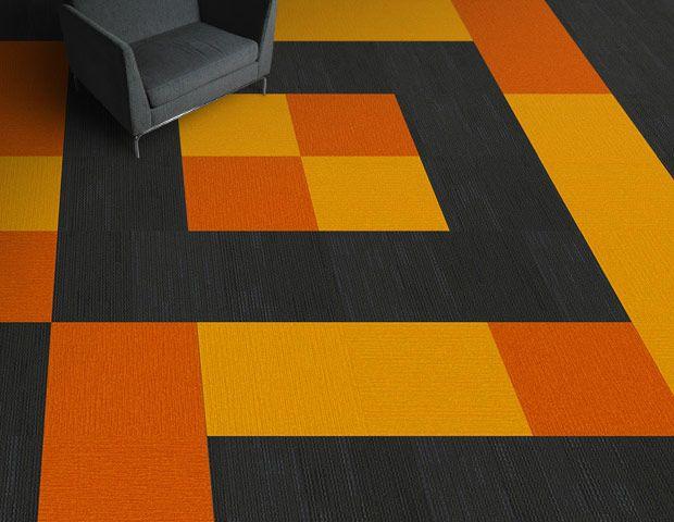 Colorful Black And Orange Commercial Carpet Tiles Carpet Tiles