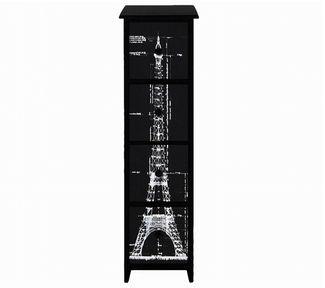 Mueble porta cd negro torre eiffel 20x20x80 cm ideas for Mueble porta cd