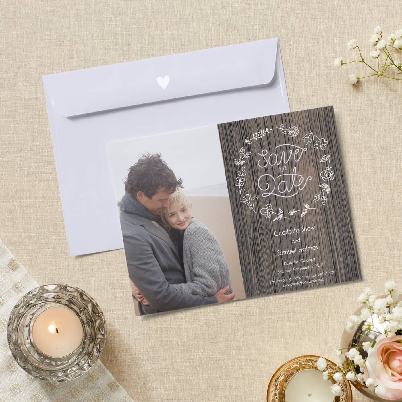 Save the Date Save the date Rustic