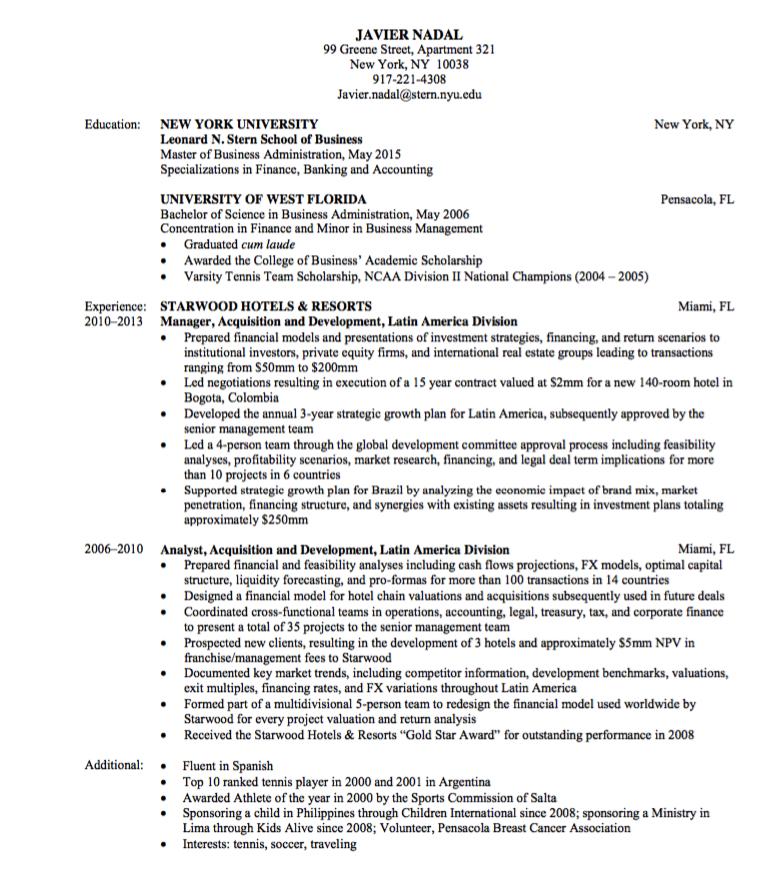 General Finance Resume Sample Examples Resume Cv