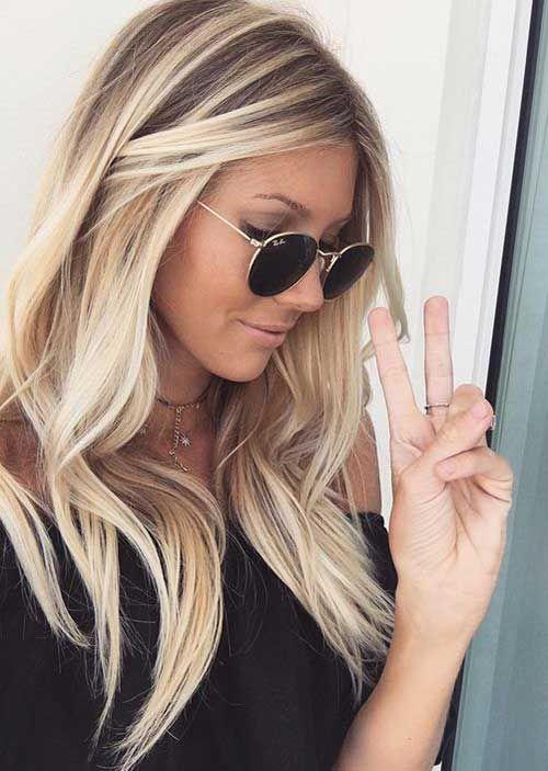 Total Attraktive Blonde Lange Frisuren Balayage Lange Haare Haarfarbe Blond Haarfarben
