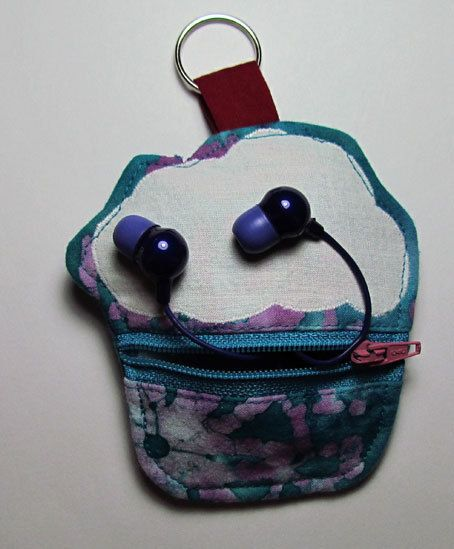 Zippered Cupcake Pouch on Key Ring. $7.00, via Etsy.