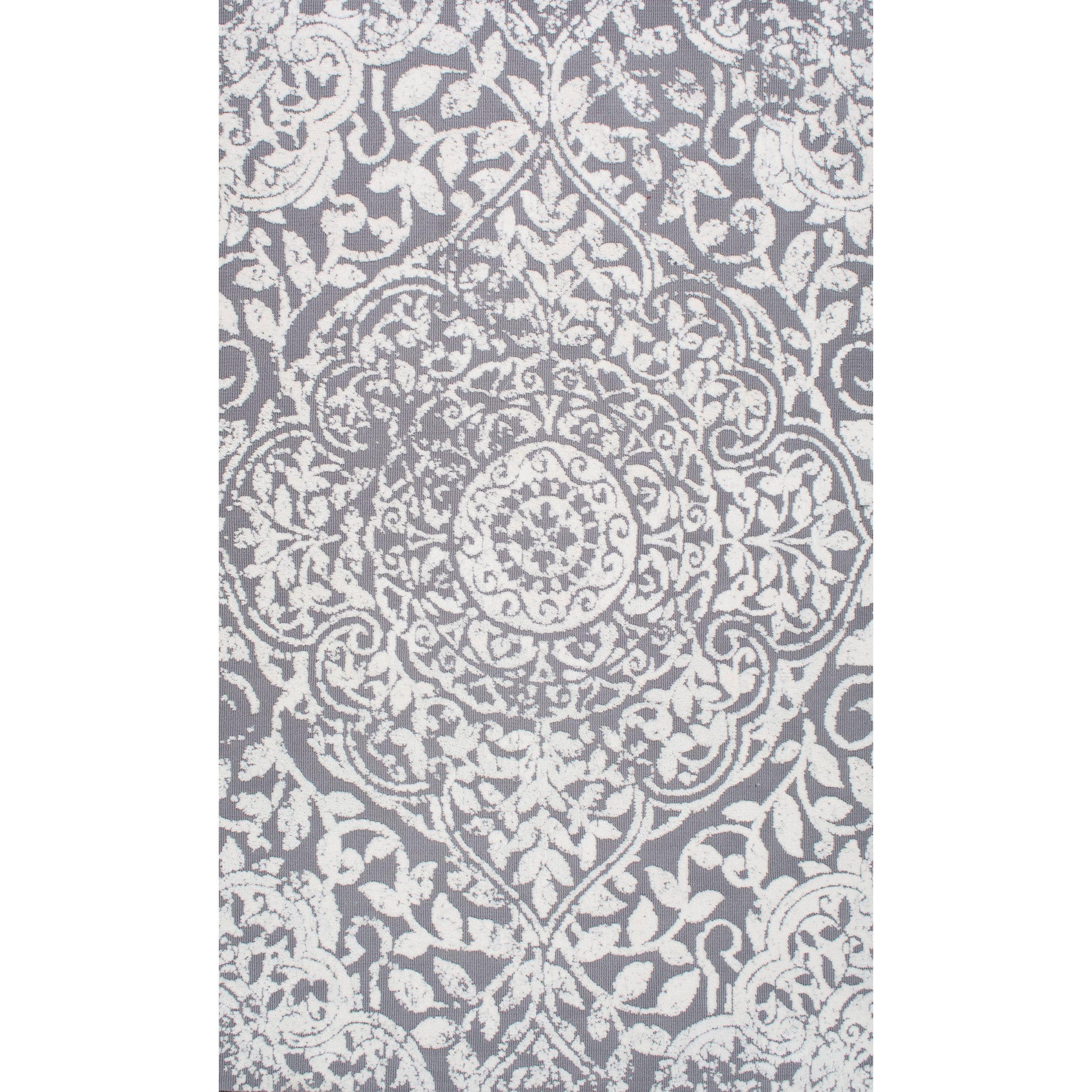 Nuloom modern vintage fancy floral grey rug 7 39 6 x 9 39 6 for 7x9 bathroom designs