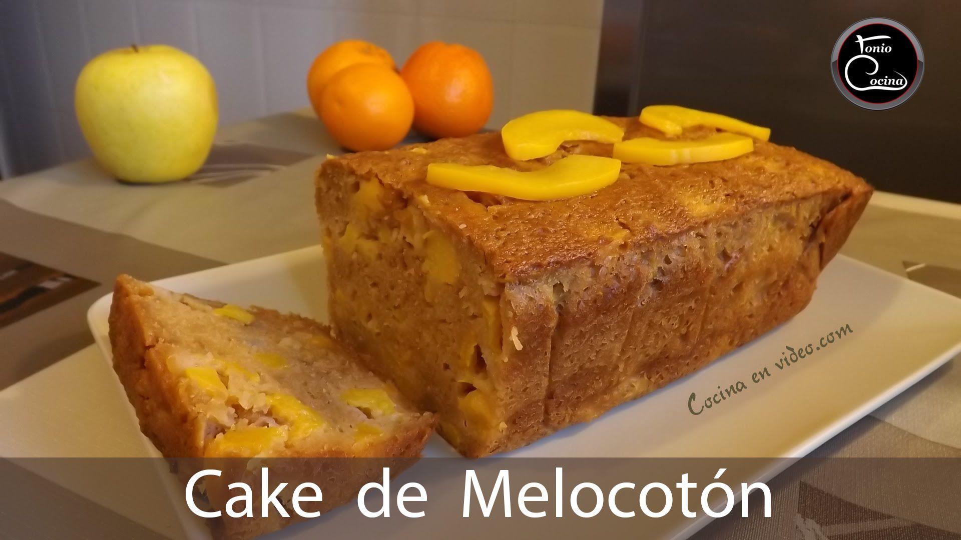 Cake de melocotón - Adelgazar con una Dieta sana - Peach cake  |  #Toni...